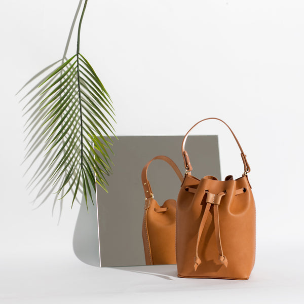 Mini Bucket Bag | Tan