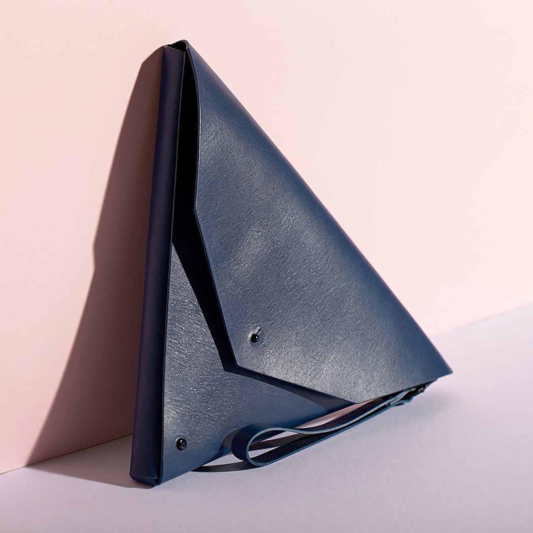 Triangle Clutch | Marine Blue