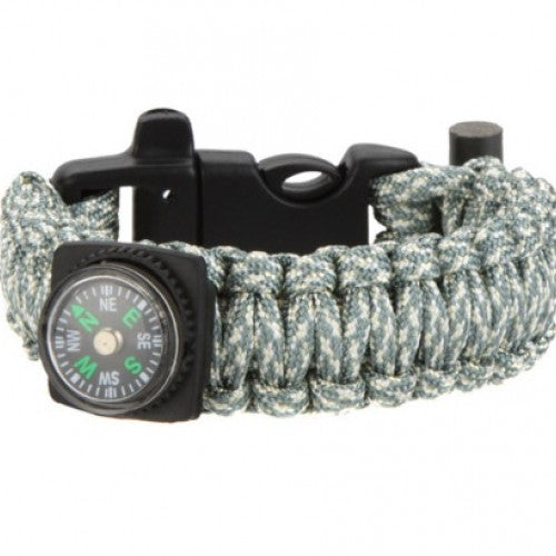Buckle Compass Multi-color Paracord Cord Emergency Kit Survival Bracelet Rope Flint Fire Travel kit Camp Hike