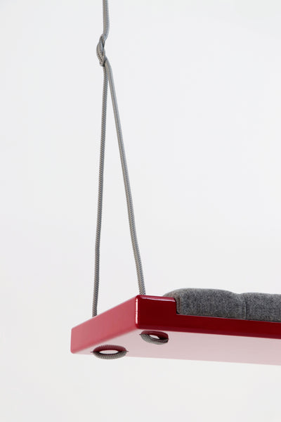 Glossy red/Grey fabric - Hooga swing