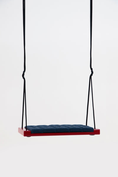 Glossy red/Blue fabric- Hooga swing