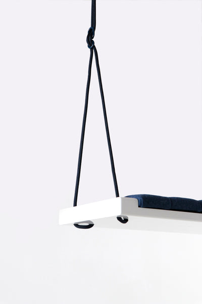 Glossy white/Navy blue fabric - Hooga swing