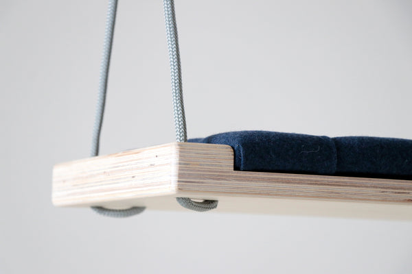 Natural wood/Navy blue fabric - Hooga swing