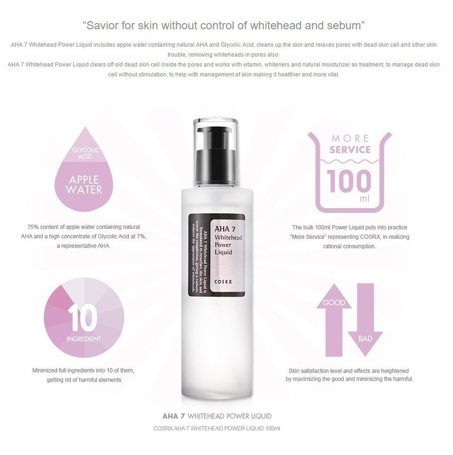 Cosrx AHA 7 Whitehead Power Liquid - HallYu Cosmetics - 1