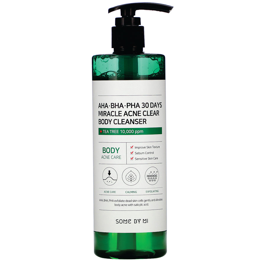 SOME BY MI AHA BHA PHA 30 Days Super Miracle Acne Clear Body Cleanser 400g