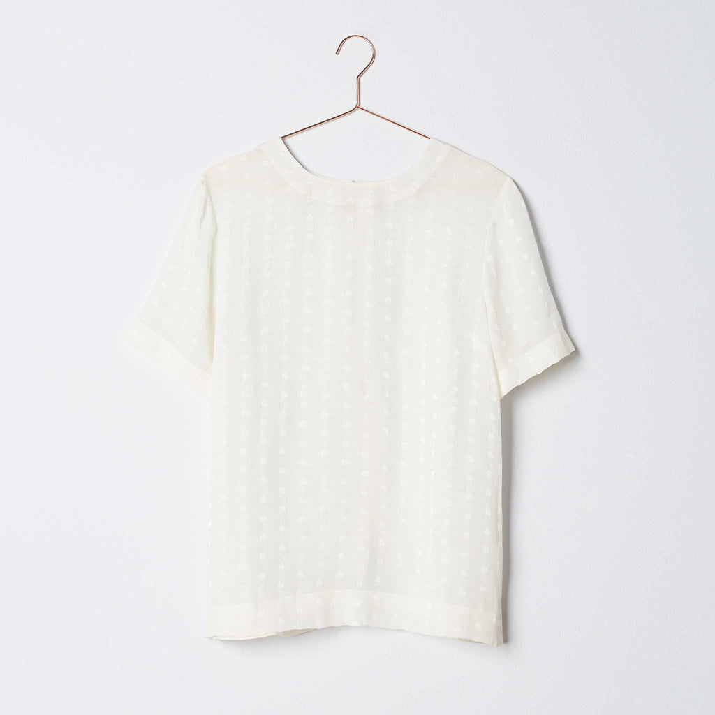 Taylor Wren | Dottie Button Back Tee | Front