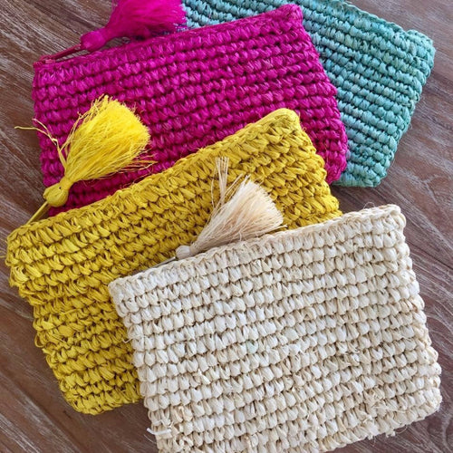 Raffia Clutch - Small