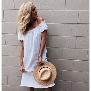 Cove Dress - White Linen