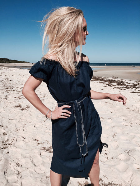Cove Dress - Khaki / Navy