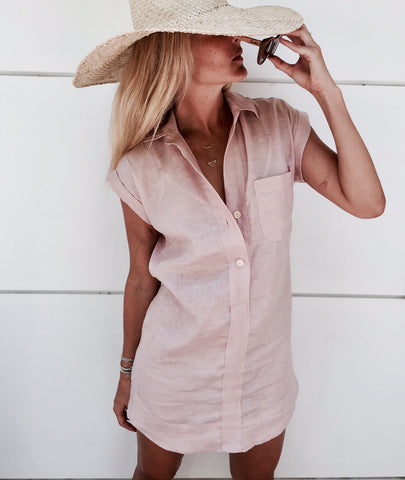 Midtown Dress - Dust Pink or Black