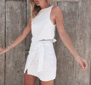 Wrap Skirt - White