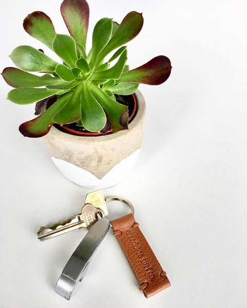 Crandokta Leather Keyring