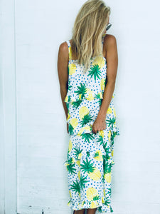 Bistro Dress - Pineapple