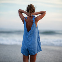 Load image into Gallery viewer, Drifter Linen Jumpsuit - Ocean Blue