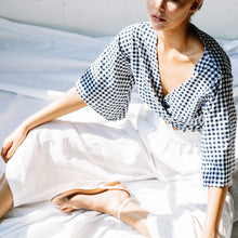 Load image into Gallery viewer, Mykonos Top - Navy Gingham
