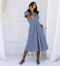 Load image into Gallery viewer, Lulu Dress - Navy Gingham