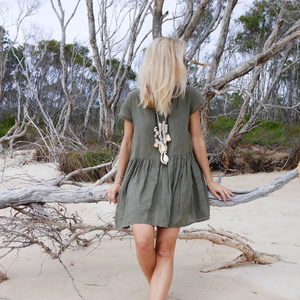 The Grace Dress - Khaki or Black