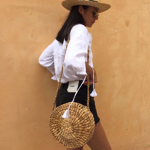 Gili Round Basket Bag