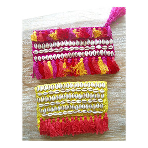 Raffia Clutch - Hot Pink