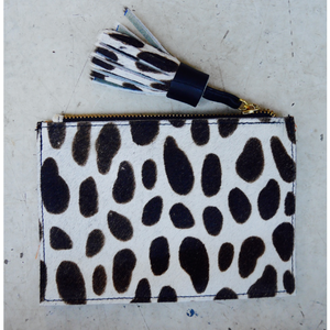 Leather Coin Purse - Dalmatian