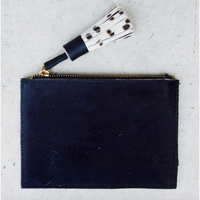 Leather Coin Purse - Plain Black