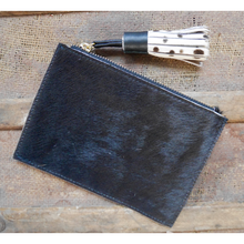 Load image into Gallery viewer, Leather Coin Purse - Plain Black