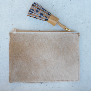 Leather Coin Purse - Plain Tan