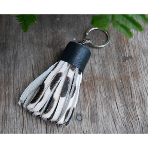 Leather Hide Keyring - Dalmatian