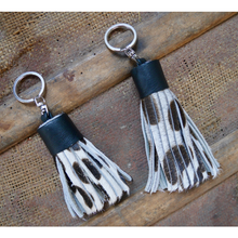 Load image into Gallery viewer, Leather Hide Keyring - Dalmatian