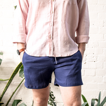 Load image into Gallery viewer, Linen Walk Shorts - Navy
