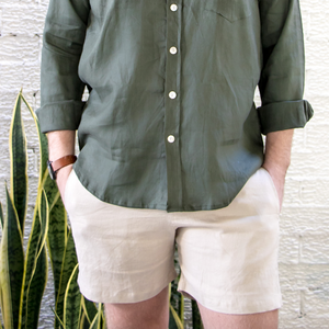 Linen Walk Shorts - Natural