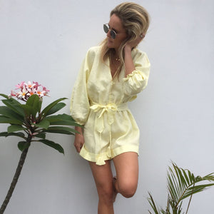 Elise Jumpsuit - Lemon