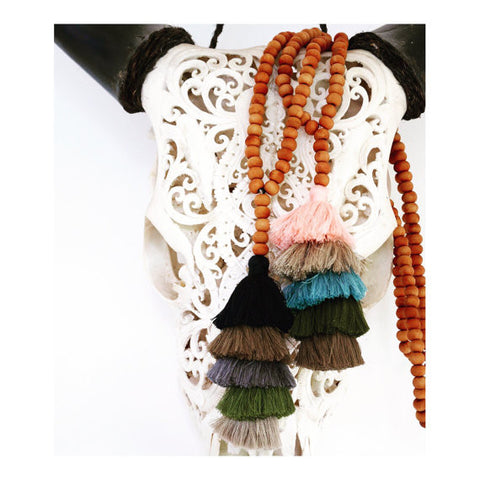 Tassel Stack Necklace - Winter and Autumn
