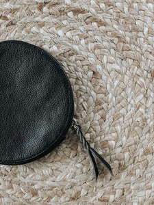 Paris Round Leather Clutch