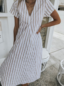 Lulu Dress - Natural & White