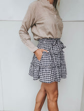 Load image into Gallery viewer, Zanzibar Skirt - Navy Gingham
