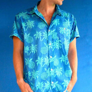 Pineapple Print Crandokta Party Shirt