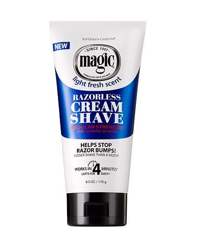 Softsheen Carson Magic Shave®Cream Shave RAZORLESS CREAM SHAVE 6 OZ.