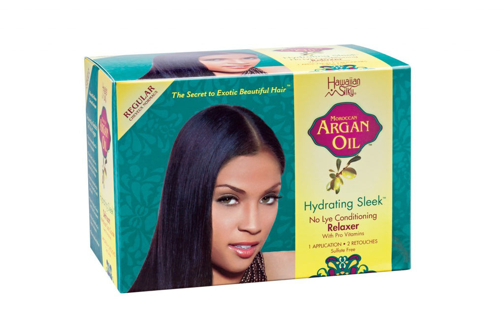 Hawaiian Silky Argan Oil Hydrating Sleek No Lye Relaxer REGULAR