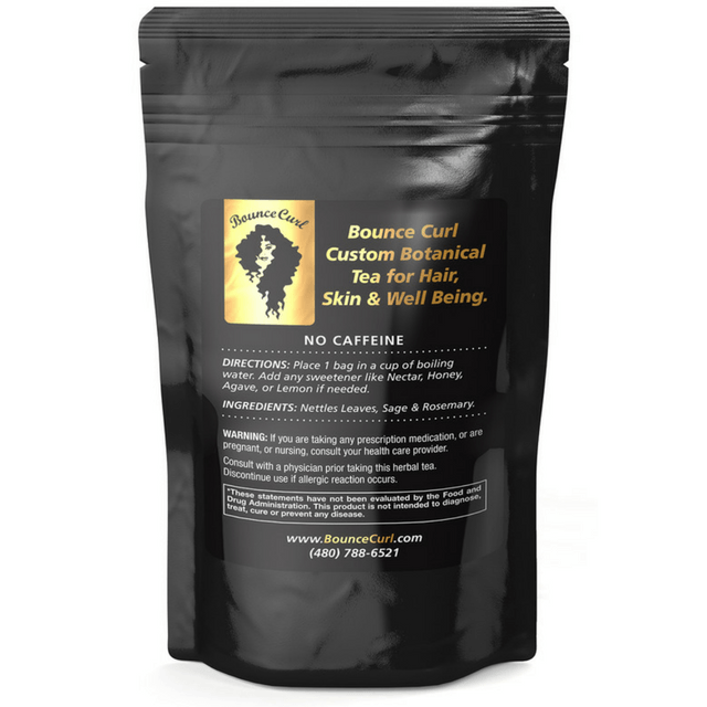 Bounce Curl Custom Botanical Tea for Hair, Skin & Well Being - 20 Bags