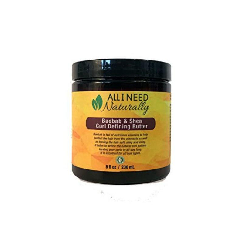 All I Need Naturally Baobab & Shea Curl Defining Butter 8oz