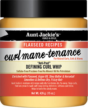 Aunt Jackie's Curls & Coils Flaxseed Recipes Curl Mane-Tenance Defining Curl Whip 15oz