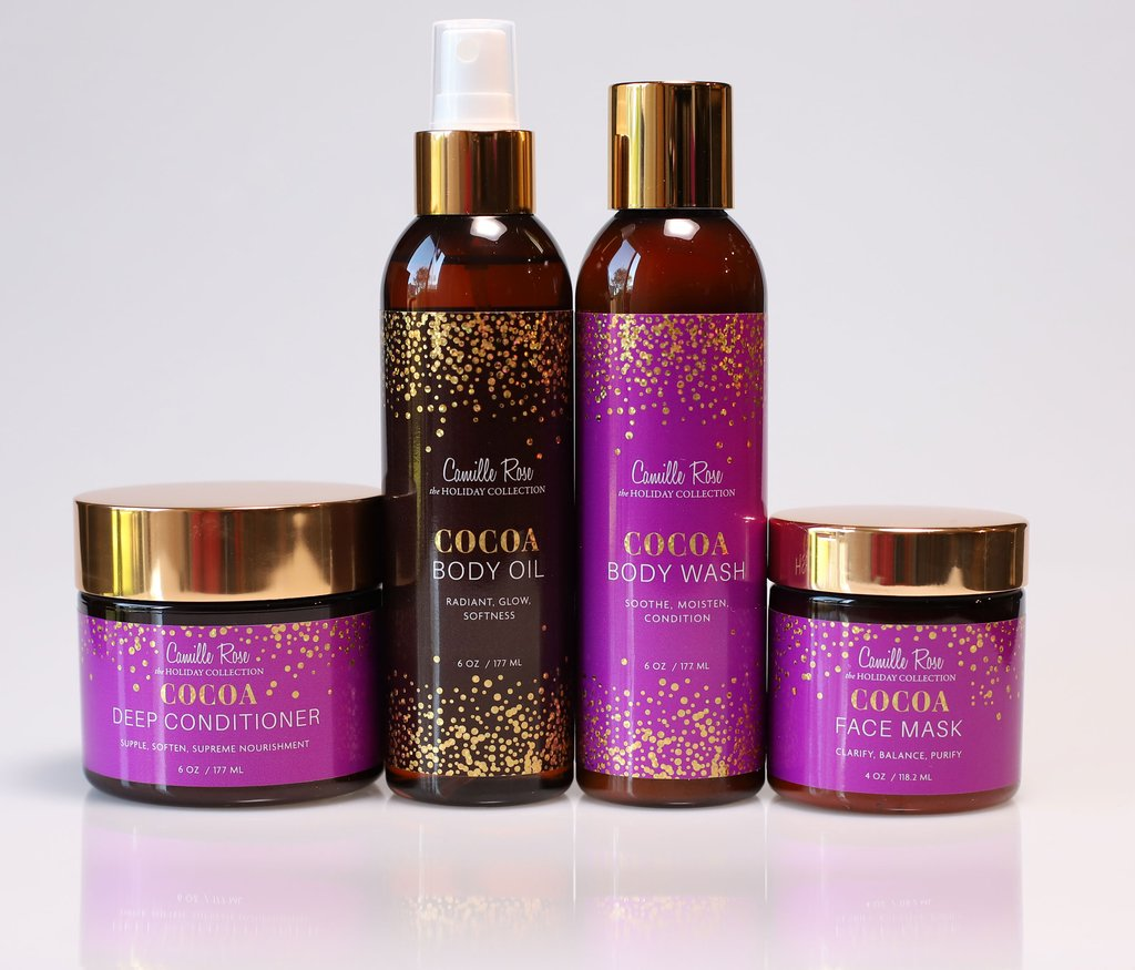 Camille Rose Naturals Cocoa Melange - 4pc Holiday Gift Set