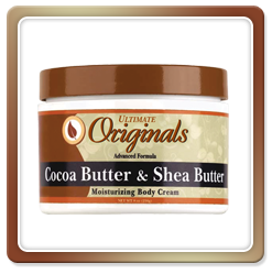 Ultimate Originals by Africa's Best COCOA BUTTER & SHEA BUTTER MOISTURIZING BODY CREAM