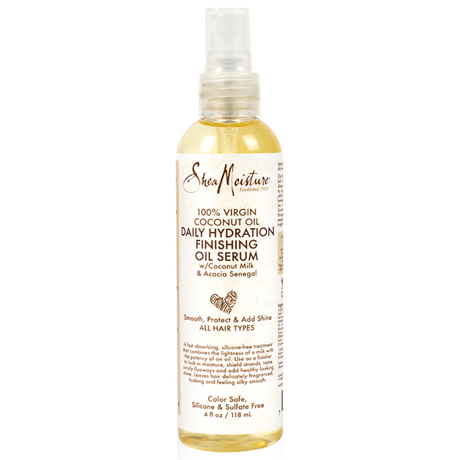 SheaMoisture 100% Virgin Coconut Oil Daily Hydration Finishing Oil Serum 4oz