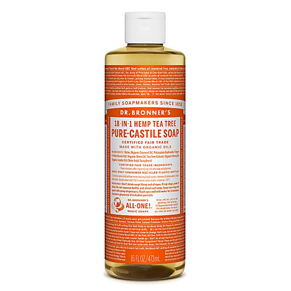 Dr Bronner's TEA TREE PURE-CASTILE LIQUID SOAP