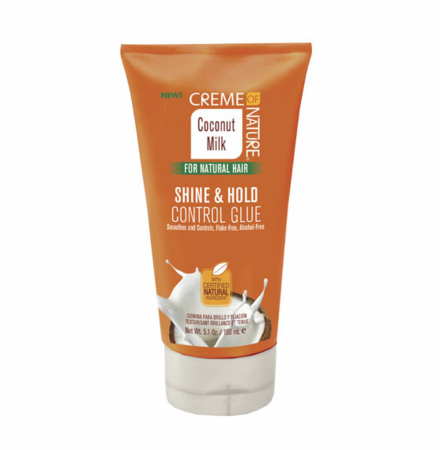 Creme of Nature Coconut Milk For Natural Hair Shine & Hold Control Glue 5.1oz