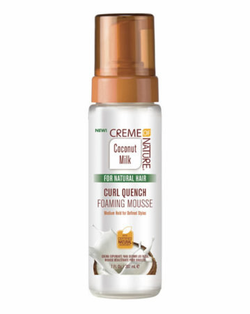 Creme of Nature Coconut Milk For Natural Hair Curl Quench Foaming Mousse 7oz