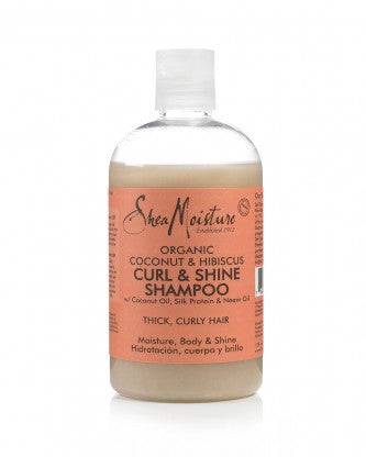 SheaMoisture Coconut & Hibiscus Curl & Shine Shampoo 13oz