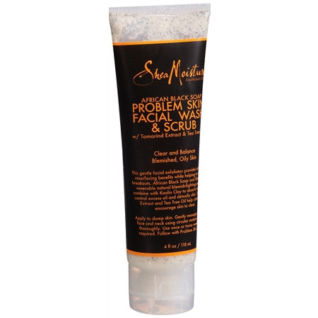 SheaMoisture African Black Soap Problem Skin Facial Wash & Scrub